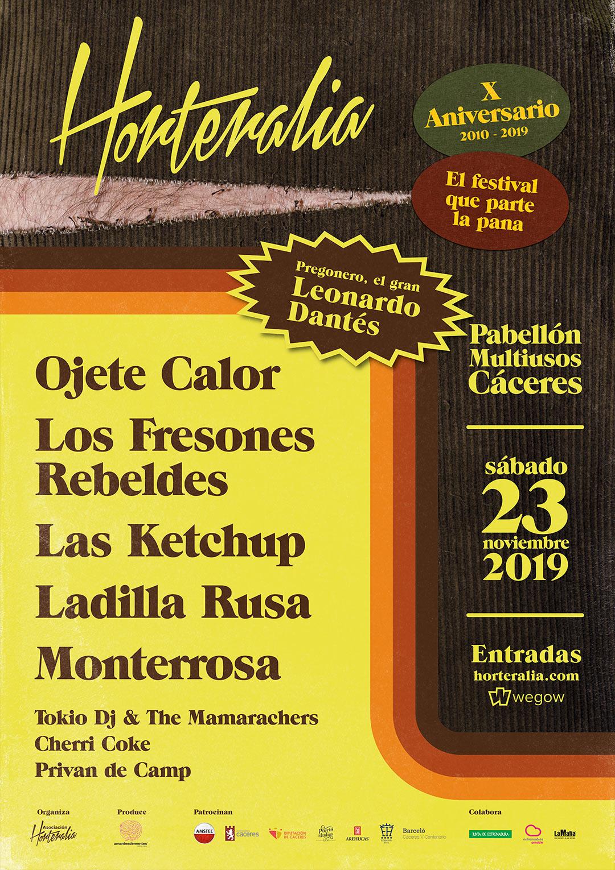 Cartel completo Horteralia 2019